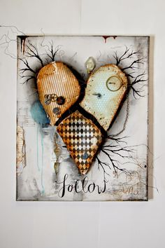 Art in a Fairytale Sauce by Jana Korecic: Follow me canvas - canvas and paper mixed media project