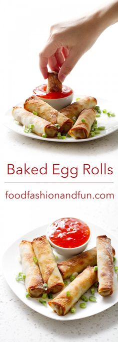 Let's Eat | Baked Egg Rolls | Food Fashion and Fun.