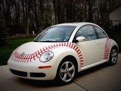 my mom's baseball bug. always interesting to watch the reaction of people as we drive by! Kc Royals Baseball, Baseball Park, Baseball Girls, Braves Baseball, Sports Baseball, Softball, Mariners Baseball, Baseball Stuff, Baltimore Orioles