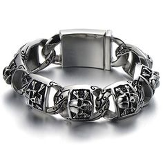 *Condition: 100% brand new  *Code:MB-246 *Metal: Stainless Steel  *Color: Silver & Black  *Finishing: Polished  *Clasp: Spring Clasp  *Dimensio...