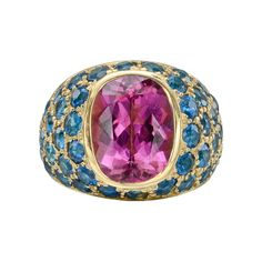 Peggy Stephaich Guinness Pink Tourmaline & Apatite Ring