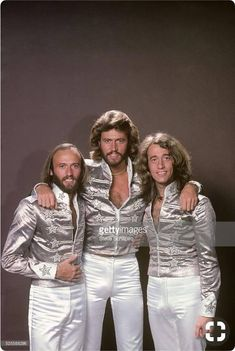 The Bee Gee's were a very popular band during the They were known for their disco music, the style of music for that time. Robin, Pop Rock, Rock And Roll, Alive Lyrics, Hallowen Costume, 80s Costume, Halloween, Warner Music, Miguel Bose