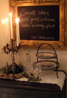 "Framed chalkboard.  Hang in house and leave each love notes. Change them frequently. Like ""I love you because_____"""