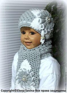 """Одежда для девочек, ручной работы. Ярмарка Мастеров - ручная работа Комплект """"Олеандр"""" для девочки (серый). Handmade."""