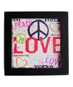Love this 'Love, Peace' Trivet on #zulily! #zulilyfinds