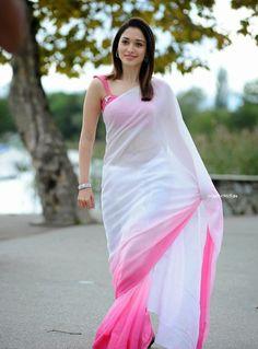 6 Times That Tamanna Wore Pink Saree And Made Us say WOW! #PinkSaree…