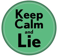 Also for when under duress, or facing that lie detector test. At themeinthemirror.blogspot.com