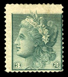 """USA 1861-1866 issue, Scott 79-E11d, 1863 3c """"Columbia"""", perforated essay on stamp paper, h.r., fine, (Catalog value $175)"""