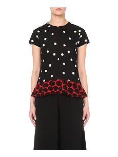 PROENZA SCHOULER Ruffled cotton-jersey t-shirt