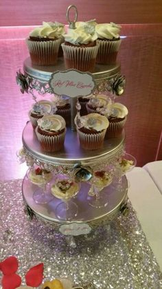 Baptism bling dessert table - www.dolcerellabakery.ca
