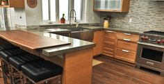 Walnut Wood and Concrete Countertop by Yves St. Hilaire   CHENG Concrete Exchange