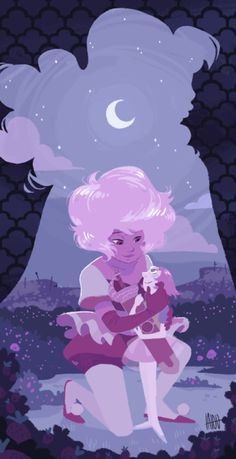 Pink Diamond and Pearl from Steven Universe. Steven Universe Diamond, Perla Steven Universe, Steven Universe Wallpaper, Geeks, Steven Univese, Pearl Steven, Fanart, Universe Art, Animation