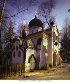 Victor Vasnetsov und Vasiliy Polenov.  Die Kirche in Abramtsevo.