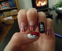 Pirate nails Arr!! by ~Mrsuperpeanuthead on deviantART
