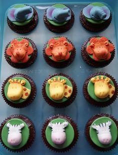 Safari Birthday Party Ideas: cupcakes