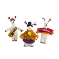 Llama with Poncho Ornament: Knit in Peru | Global Goods Partners