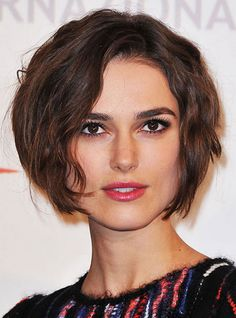 Wavy Short Hairstyles with Square Face