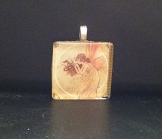Fairy glass tile pendant.  Perfect Christmas gift.  Etsy.com