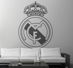 Amazing Football Wall Stickers and Wall Decals Clasico Real Madrid, Real Madrid Crest, Wall Stickers, Wall Decals, Madrid Wallpaper, Foto Madrid, Football Wall, Soccer World, Spanish