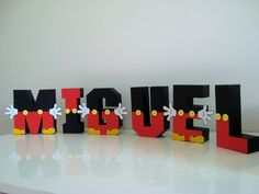 Mickey Mouse Wooden Letters Hand Painted by ToodleTownBoutique Mickey Mouse Letters, Theme Mickey, Fiesta Mickey Mouse, Mickey Mouse Parties, Mickey Party, Disney Letters, Mickey 1st Birthdays, Mickey Mouse First Birthday, Mickey Mouse Baby Shower