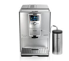 CafeRomatica 855  NAŠE ZLATÉ DÍLO: VŠE VE STŘÍBRNÉ  360° celé stříbrné Vyhřívaná plocha na šálky EKO režim a energeticky úsporný vypínač 0-watt Extrémně tichý, kuželový mlýnek z kalené oceli