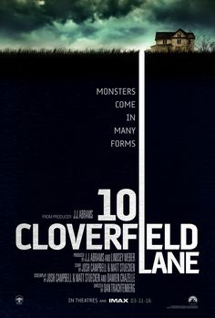 """10 CLOVERFIELD LANE Poster: """"Monsters Come In Many Forms"""" — GeekTyrant"""