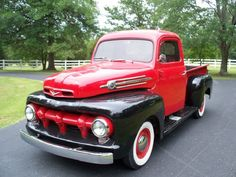 1952 Ford  Red and Black Pick-Up.