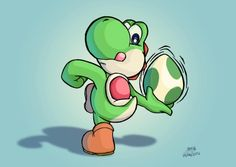 Finnaly, Yoshi learnt how to throw his eggs. Yoshi learnt to throw eggs Mundo Super Mario, Super Mario Art, Super Mario World, Geeks, Mario E Luigi, Nintendo World, Nintendo Characters, Super Mario Brothers, Mario Party