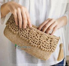 Crochet Diy How to Crochet: Crochet Clutch Bags, Crochet Purse Patterns, Crochet Pouch, Crochet Handbags, Crochet Purses, Crochet Bags, Lace Purse, Bag Patterns, Knitting Patterns