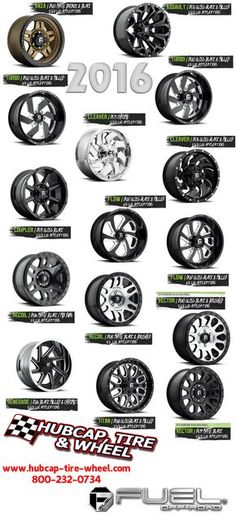 New 2016 Fuel Off-Road wheels and rims for your truck, SUV, or Jeep.