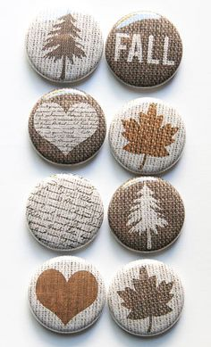 Burlap Flair by aflairforbuttons on Etsy, $6.00 #aflairforbuttons #flair #burlap