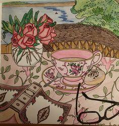 Tea time -colored by Cheryl Krumm
