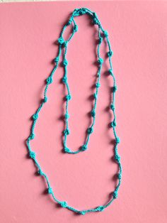 Collana all'uncinetto #crochet #necklace #diy