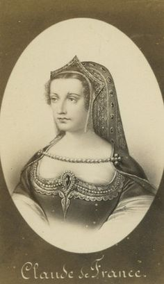 Queen Claude De France    ( Oct. 14, 1499, Romorantin, France— July 20, 1524, Blois), queen consort of King Francis I of France (reigned 1515–47), the daughter of the French king Louis XII and Anne of Brittany.   On her mother's death in January 1514, she inherited Brittany and, four months later (May 18, 1514), married Francis; on his accession to the throne the following year, Brittany was definitively joined to the crown of France.