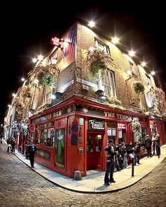 Bright Lights of Temple Bar in Dublin Ireland, photograph by Mark Tisdale, prints and more available on fineartamerica.com