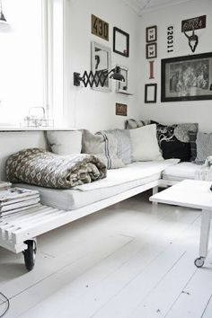 white with black and brown accents - home decor