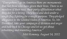 Spoken like a true American leader!