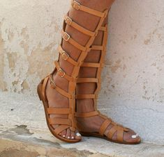 ARES leather gladiator sandals/ ancient Greek sandals/ lace up sandals/ spartan sandals/ handmade natural leather sandal/ strappy sandal Leather Gladiator Sandals, Lace Up Sandals, Strappy Sandals, Ancient Greek Sandals, Natural Leather, Simple Outfits, Im Not Perfect, Handmade, Shoes