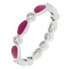 Fuschia Link Enamel Stacker