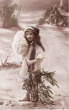 1912....Sweet Little Girl...Curly Hair....Gentle Smile....Christmas....french original vintage postcard