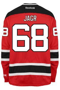 New Jersey Devils Jaromir JAGR  68 Official Home Reebok Premier Replica NHL  Hockey Jersey ( d359e00947c5