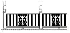 Centered Sawn Balusters