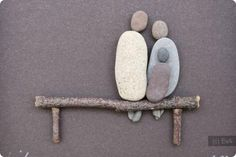 Beautiful Pebble/Stone Art at Winslow Wharf Marina Pebble Stone, Pebble Art, Stone Art, Stone Crafts, Rock Crafts, Arts And Crafts, Rock And Pebbles, Sticks And Stones, Nature Crafts