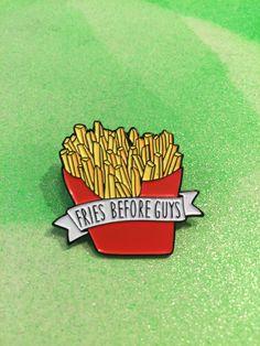 Fries B4 Guys Enamel Pin http://www.amazon.com/SoundPie-Universal-Earphone-Microphone-Resistant/dp/B01AI26PYY/ref=sr_1_1?ie=UTF8&keywords=apple+earbuds