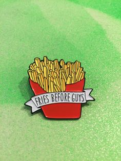 Fries B4 Guys Enamel Pin http://www.amazon.com/SoundPie-Universal-Earphone-Microphone-Resistant/dp/B01AI26PYY/ref=sr_1_1?ie=UTF8&keywords=apple+earbuds