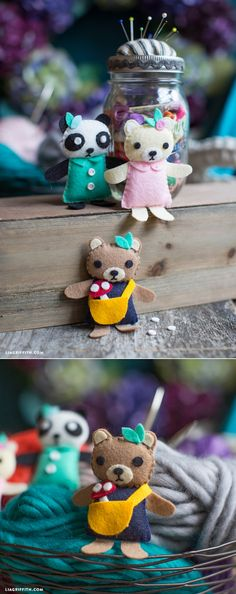 Mini Bear Friends Sewing Pattern. So adorable!