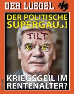 ❌❌❌ Der Altersstarrsinnspräsident Joachim Gauck bringt die Bundesreplik Schland zunehmend in Existenznot. Ohne ersichtlichen Grund, offenbar nur zum Schutz einiger faschistischer Regierungsmitglieder der Ukraine, hat er Russland im Namen des deutschen Volkes die Freundschaft gekündigt. Sein unerklärliches Verhalten wirft natürlich ernste Fragen auf. Und tatsächlich, es scheint eine ganze Batterie von Gründen für Gaucks Persönlichkeitsdefizte zu geben. ❌❌❌