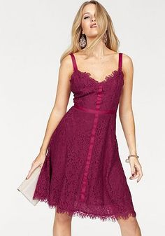 VERO MODA® Vero Moda Spitzenkleid »KATE« Street One, Formal Dresses, Red, Fashion, Lace, Curve Dresses, Moda, Formal Gowns, La Mode