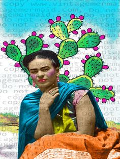 MEXICAN CACTUS FRIDA kahlo Fabric Block by FRIDAKAHLOFABRIC  MEXICAN CACTUS FRIDA kahlo Fabric Block Applique for Crafts #frida #fridaart #art #fridakahlo #alteredart #mexicanart #mexican #mexico #mexicanartist #paintings #paintingartist #flamboyant #fridakahloart #vivalafrida Frida Kahlo Fabric, Frida Art, Mexican Artists, Artist Painting, Altered Art, Cactus, Disney Characters, Fictional Characters, Applique