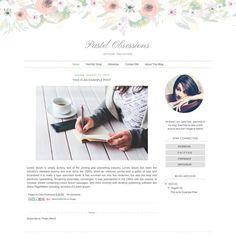 Blog Template Bundle — 60% OFF — Set of 3 Girly Blogger Templates ...